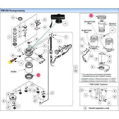 Parker Fuel Manager 29458 pojistná matice vložky, (6 ks)