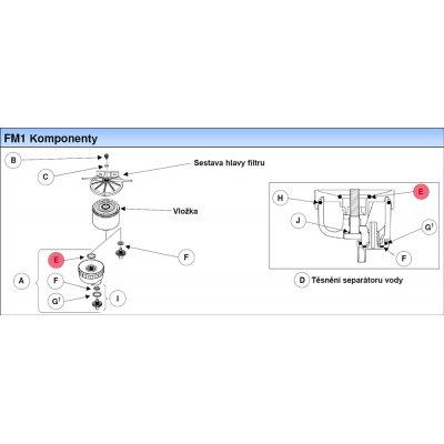 Parker Fuel Manager 10519 o-kroužek, horní těsnění separátoru vody, (10 ks)