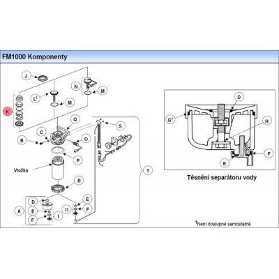Parker Fuel Manager 37348 sestava ruční pumpičky, reverzní průtok