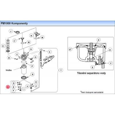 Parker Fuel Manager 35635 sestava separátoru vody k filtru FM1000