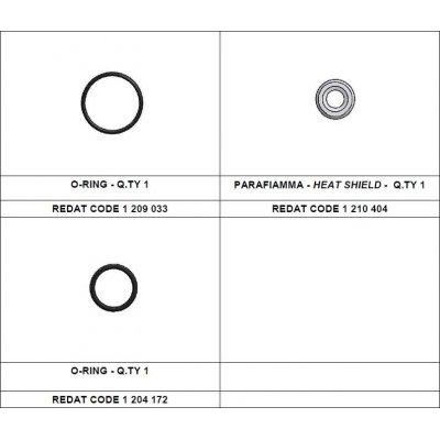 Redat 1 210 432 sada tepelná podložka + vnější o-kroužek Denso