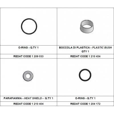 Redat 1 210 456 sada tepelná podložka + vnější o-kroužek Denso
