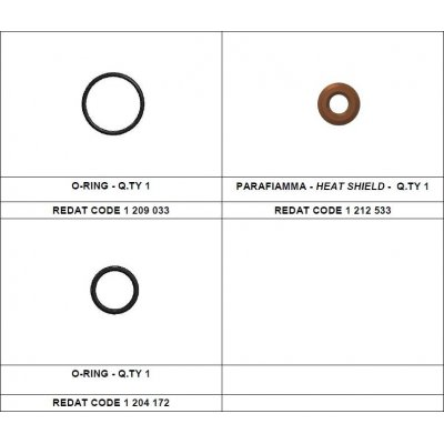 Redat 1 212 534 sada tepelná podložka + vnější o-kroužek Denso