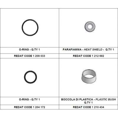 Redat 1 212 694 sada tepelná podložka + vnější o-kroužek Denso