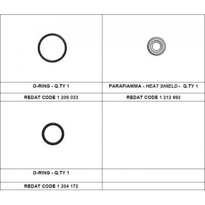 Redat 1 212 696 sada tepelná podložka + vnější o-kroužek Denso