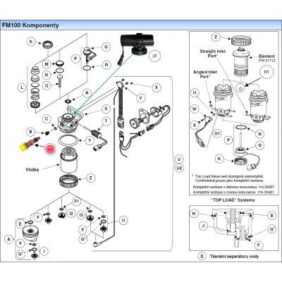 Parker Fuel Manager 43387 kit, indikátor výměny filtru
