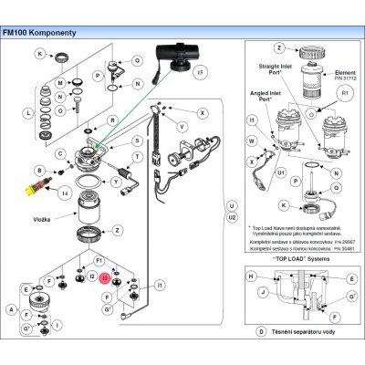 Parker Fuel Manager 41184 sestava snímače vypouštěcího ventilu