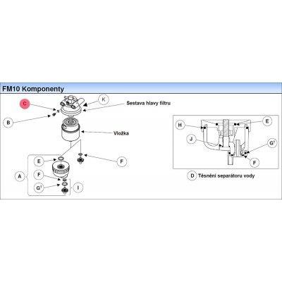 Parker Fuel Manager 13494 o-kroužek, těsnění, (10 ks)